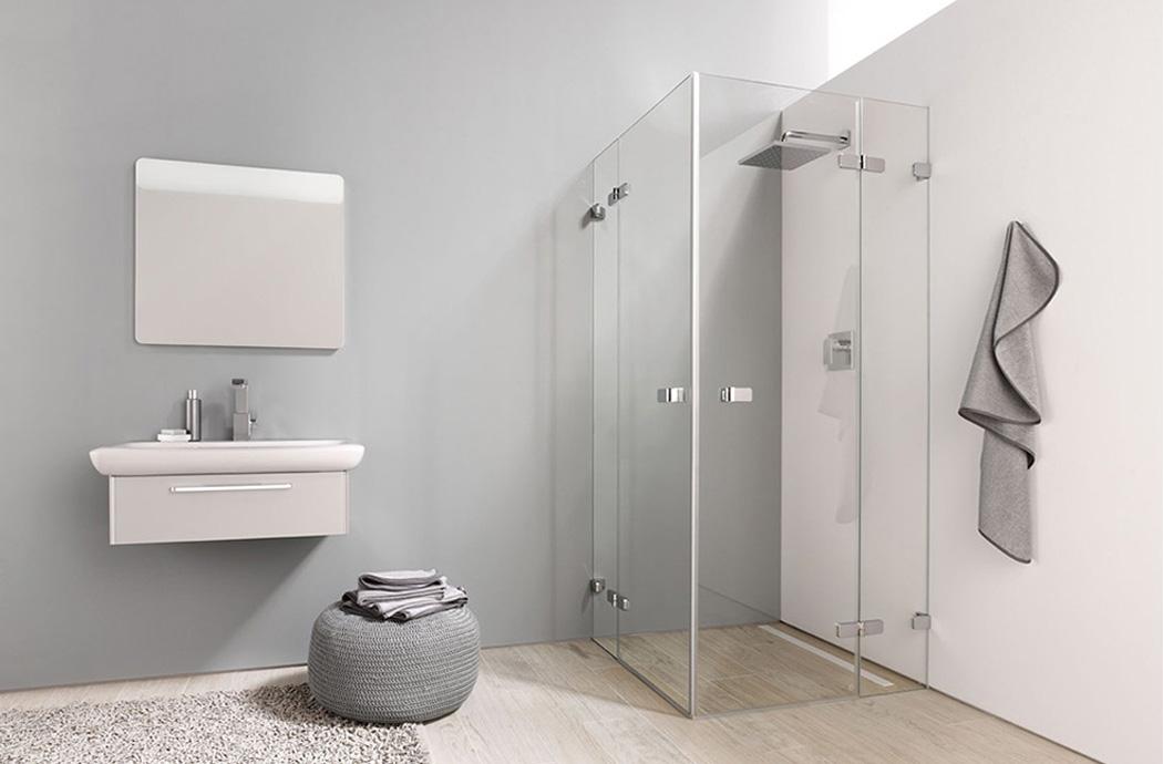 Badezimmer Vorhang - Dusche verputzen statt fliesen