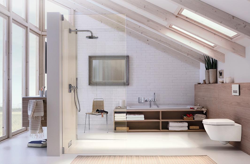 muster badezimmer mit schrge design. Black Bedroom Furniture Sets. Home Design Ideas