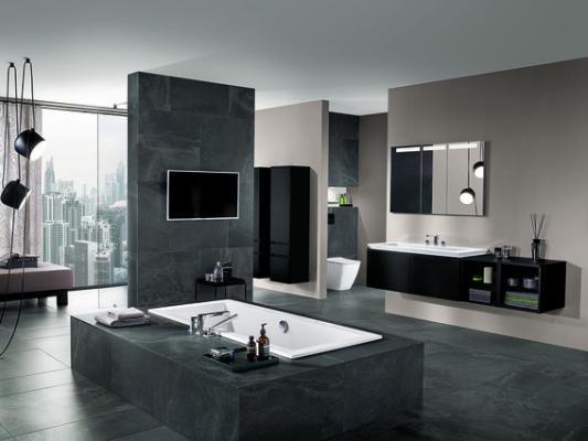 Wie Weiß, nur besser: 11 Ideen für Schwarz im Badezimmer ...