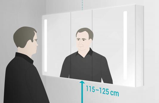 Badezimmerspiegel Hohe.Anleitung Bad Spiegelschrank Aufhangen Video Reuter