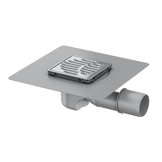 ACO ShowerFloor Badablauf mit Abdeckung, Stutzenneigung 1,5°, Ablauf waagerecht