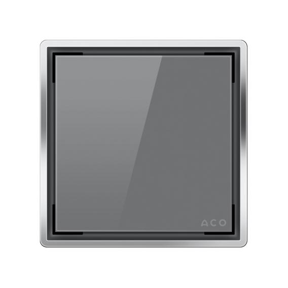 ACO Unidekor Designabdeckung Glas grau