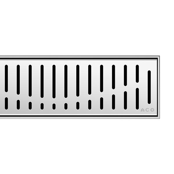 ACO ShowerDrain C Designabdeckung Wave für Duschrinne: 80 cm