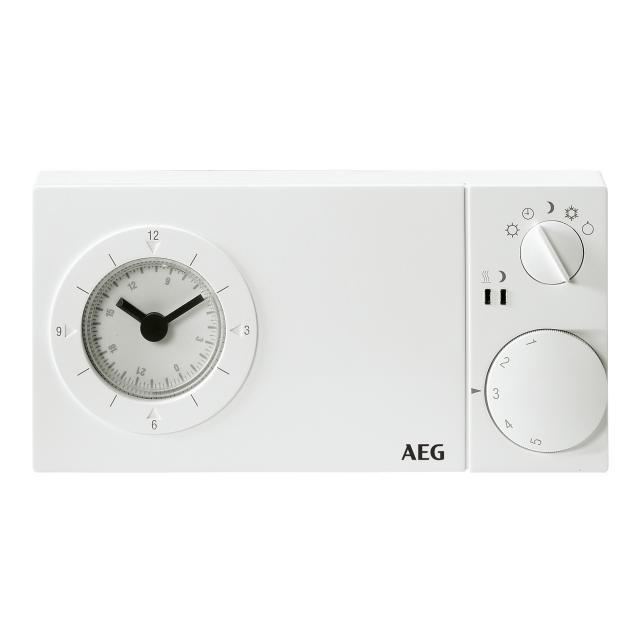 AEG Fußbodentemperaturregler mit 24h Uhr für Aufputzmontage