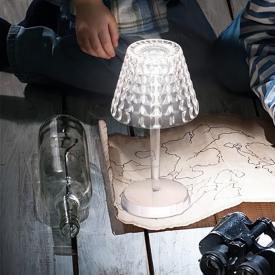 AI LATI Tiffany USB LED Tischleuchte mit Dimmer