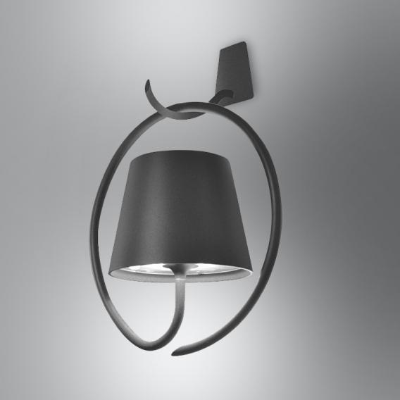 AI LATI Poldina Parete con Gancio USB LED Wandleuchte mit Dimmer