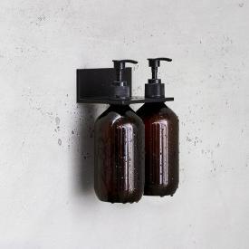 Alape Assist Duschablage mit 2 Seifenspendern schwarz matt
