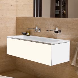 Alape WP.Twice Waschtisch mit Waschtischunterschrank mit 1 Auszug weiß, ohne Hahnloch, ohne Überlauf