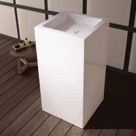 Alape WT.RX Waschtisch mit Wandkonsole, eckig weiß