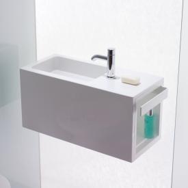 Alape Xplore.S WP Waschplatz weiß, Becken links, mit 1 Hahnloch