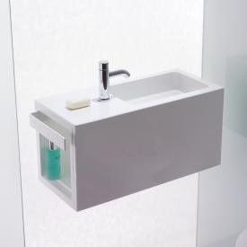 Alape Xplore.S WP Waschplatz weiß, Becken rechts, mit 1 Hahnloch