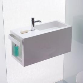 Alape Xplore.S WP Waschplatz weiß, mit pflegeleichter Beschichtung, mit 1 Hahnloch