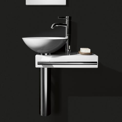 alape wp pi waschplatz wei mit 1 hahnloch 5031000000. Black Bedroom Furniture Sets. Home Design Ideas