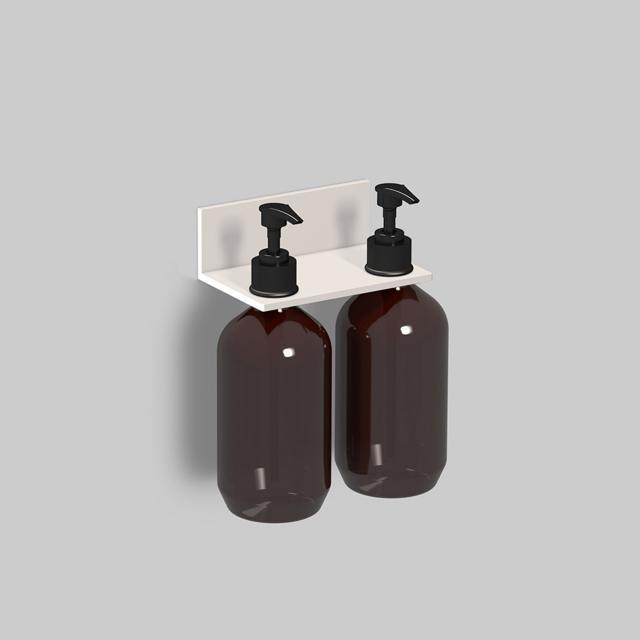 Alape Assist Duschablage mit 2 Seifenspendern weiß matt