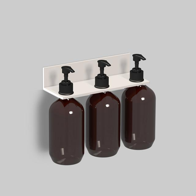 Alape Assist Duschablage mit 3 Seifenspendern weiß matt