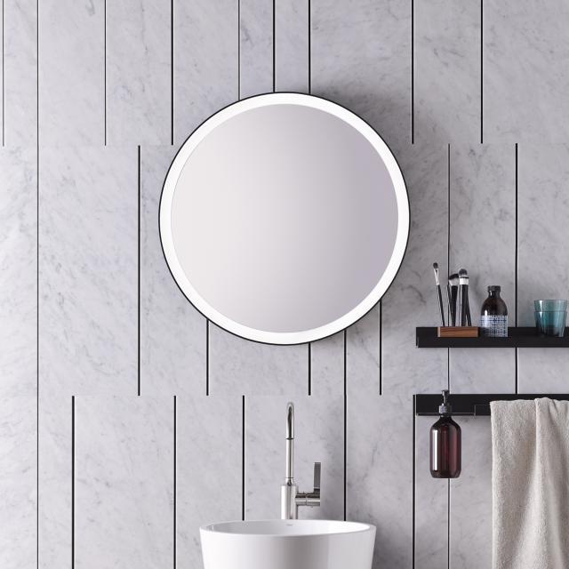Alape SP.FR Spiegel mit LED-Beleuchtung schwarz matt