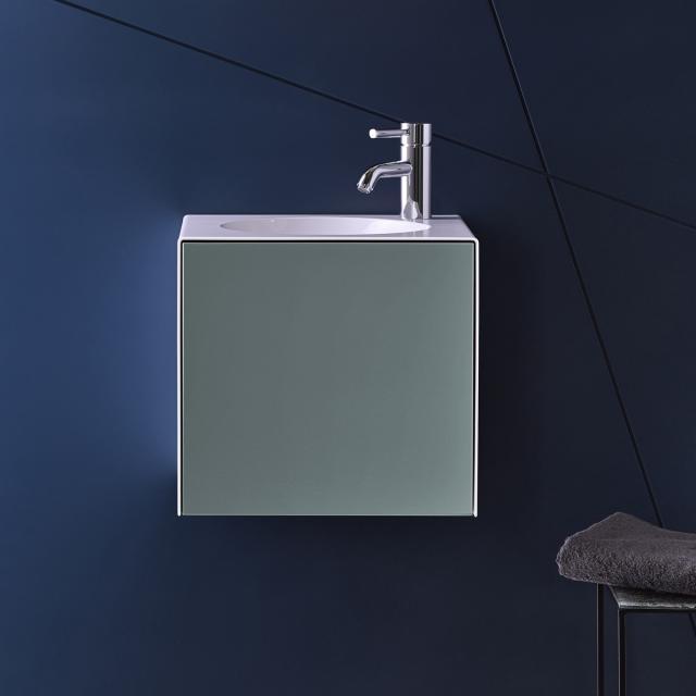 Alape WP.Folio Handwaschbecken mit Waschtischunterschrank mit 1 Tür fossilgrau seidenmatt, mit 1 Hahnloch