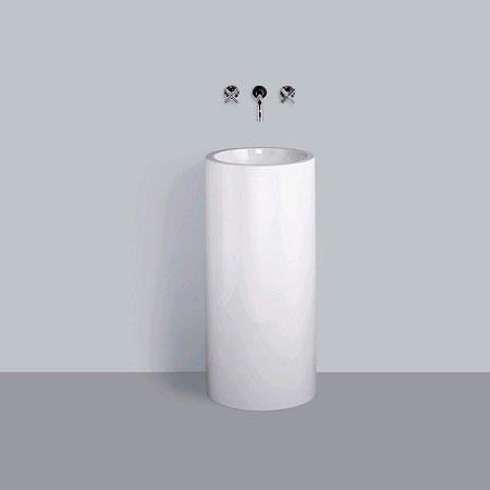 Alape WT.RX Waschtisch mit Wandkonsole, rund ohne Hahnloch