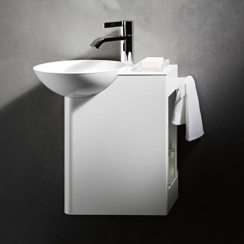 Alape wp insert1 waschplatz becken links ablage wei for Schmales waschbecken