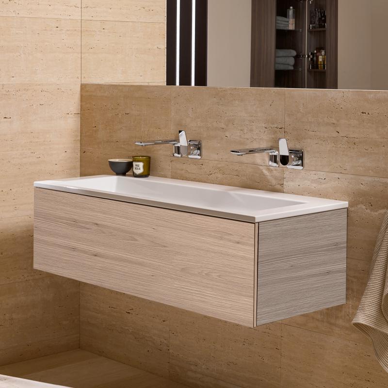 alape wp twice waschtisch mit waschtischunterschrank mit 1 auszug graueiche ohne hahnloch ohne. Black Bedroom Furniture Sets. Home Design Ideas