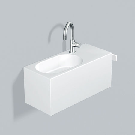 alape wp fusion s waschplatz wei mit 1 hahnloch becken links 5062800000 reuter. Black Bedroom Furniture Sets. Home Design Ideas