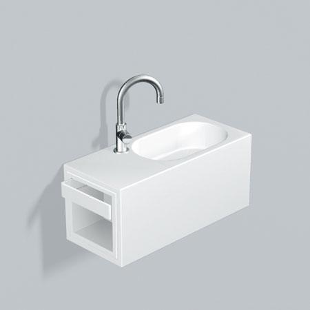 alape wp fusion s waschplatz wei mit 1 hahnloch becken links 5065800000 reuter. Black Bedroom Furniture Sets. Home Design Ideas