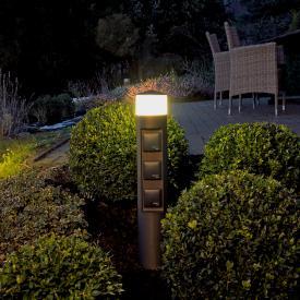 Albert LED Pollerleuchte mit Steckdosen