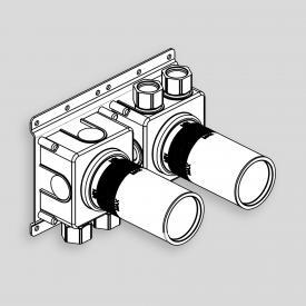 antoniolupi AYATI Unterputz-Grundkörper für Thermostat-Duschbatterie mit 2-Wege-Umsteller edelstahl satiniert