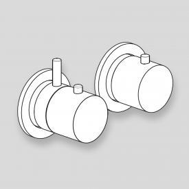antoniolupi AYATI Unterputz-Thermostat-Duschbatterie mit Umsteller edelstahl satiniert