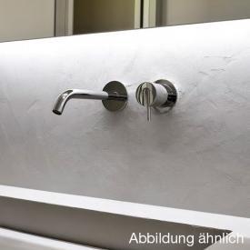 antoniolupi AYATI Wandauslauf für Waschtische Ausladung: 120 mm, edelstahl satiniert