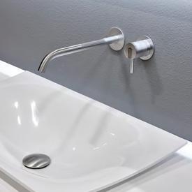 antoniolupi AYATI Wandauslauf für Waschtische Ausladung: 250 mm, edelstahl satiniert