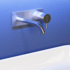 antoniolupi AYATI Waschtisch-Eingriffmischer für Wandmontage Ausladung: 120 mm, edelstahl satiniert