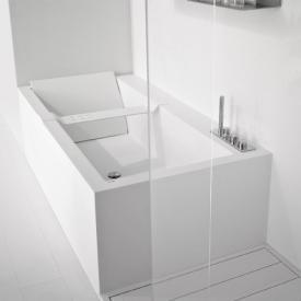 antoniolupi BIBLIO Rechteck-Badewanne mit Armaturenrand und Verkleidung 2-seitig