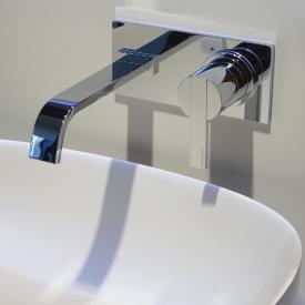 antoniolupi BIKAPPA Waschtisch-Eingriffmischer für Wandmontage Ausladung: 240 mm, chrom