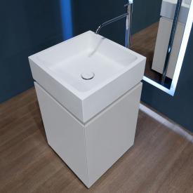 antoniolupi BLOKKO Waschtisch mit freistehendem Waschtischunterschrank mit 2 Türen Front weiß matt / Korpus weiß matt, Waschtisch weiß matt