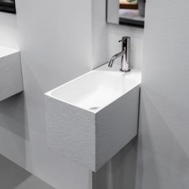 antoniolupi CALCO Handwaschbecken weiß struktur, mit 1 Hahnloch, ohne Überlauf