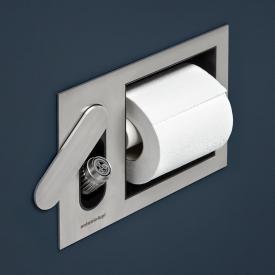 antoniolupi CARTAINTENSO Unterputz-Bidetbrausen-Set und Toilettenpapierhalter edelstahl satiniert