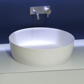 antoniolupi CATINO Aufsatzwaschtisch weiß matt, Ablaufventil weiß