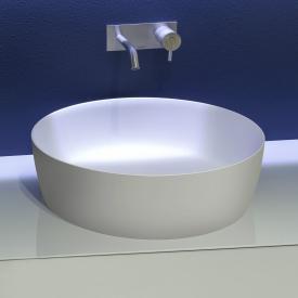 antoniolupi CATINO Aufsatzwaschtisch cemento matt/weiß matt, Ablaufventil weiß