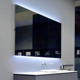 antoniolupi FLASH100 Spiegel mit polierter Kante und weißer LED-Beleuchtung Breite 189 cm