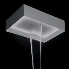 antoniolupi FUORIMETEO Deckenduschkopf mit Wasserfall edelstahl poliert/weiß, ohne Beleuchtung
