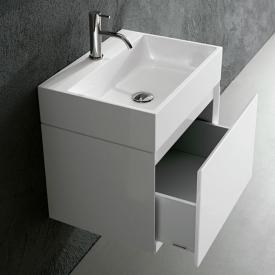 antoniolupi GESTO Waschtischunterschrank mit 1 Auszug Front weiß matt / Korpus weiß matt