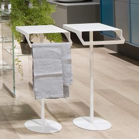 antoniolupi GINO Tischablage mit Handtuchständer weiß matt
