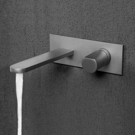 antoniolupi INDIGO Waschtisch-Eingriffmischer für Wandmontage Ausladung: 185 mm, edelstahl satiniert