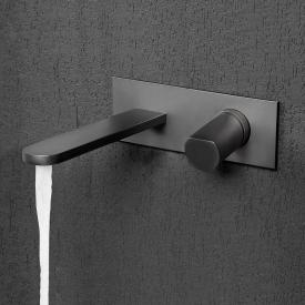 antoniolupi INDIGO Waschtisch-Eingriffmischer für Wandmontage Ausladung: 235 mm, graphit matt