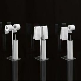 antoniolupi JUST106#W Doppelter Papier-/Handtuchständer mit WC-Bürste weiß