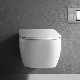 antoniolupi KOMODO Wand-Tiefspül-WC mit WC-Sitz Flat weiß poliert