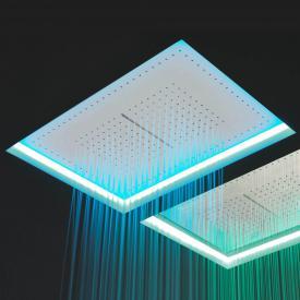 antoniolupi METEO Einbaudeckenduschkopf mit Wasserfall weiß, mit RGB-LED-Beleuchtung