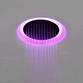 antoniolupi METEO IN Einbaudeckenduschkopf edelstahl satiniert/weiß, mit RGB-LED-Beleuchtung