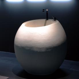 antoniolupi OPIUM bodenstehender Waschtisch pietra luna, mit 2 Hahnlöchern